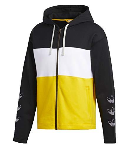 Adidas Originals Trefoil Herren-Kapuzenpullover (Schwarz/Weiß/Bold Gold (X-Large)