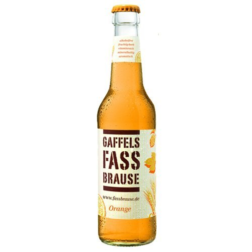 24 Flaschen Gaffel Fassbrause Orange a 0,33l Alkoholfrei Fass Brause inc. 1.92€ MEHRWEG Pfand