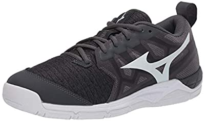 Mizuno Wave Supersonic 2 Womens Volleyball Shoe, Black-Charcoal, 5