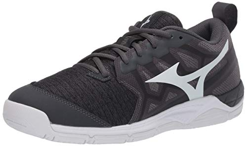 Mizuno womens Wave Supersonic 2 Volleyball Shoe, Black-charcoal, 8.5 US