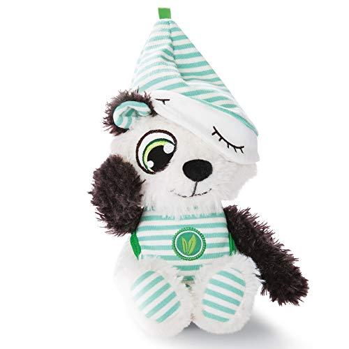 NICI Schlafmützen Pandalino, Mint-weißem Pyjama, Kuscheltier Teddybär, Süßer Plüschtier, Flauschiges Stofftier als Einschlaf-Hilfe, Plüsch-Bär Schmusetier I 45672, 22 cm