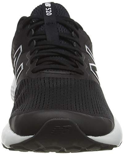 New Balance 520v7, Zapatillas para Correr Hombre, Black/White, 45.5 EU