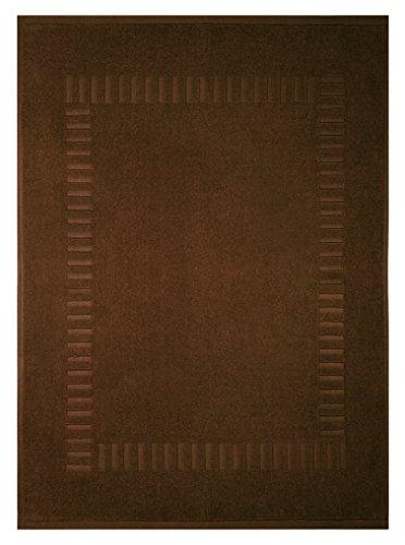 Lashuma Tapis de Bain Tapis de Douche Tapis de Douche 100% Coton Eponge Pure 50x70cm, Coton, Marron