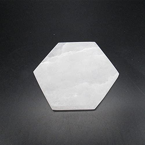 LVYAN Placa de Carga Hexagonal de selenita Natural de 8 * 8 cm para decoración del hogar