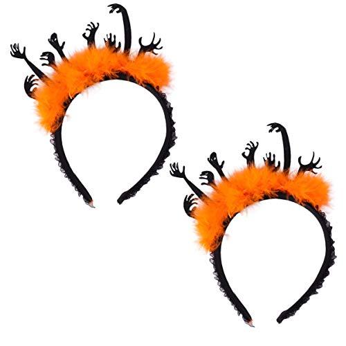PRETYZOOM Diadema de Halloween Manos Malvadas Carnaval Tocado de Halloween Accesorio de Traje de Cosplay Aro de Pelo 2 Piezas