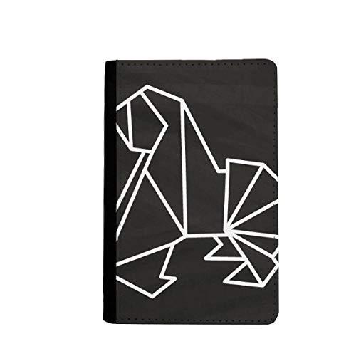 beatChong Perro Abstracto Origami Geométrico Pasaporte Forma El Bolso De Viaje Carpeta del Portatarjetas De La Cubierta del Caso