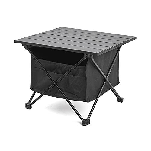 Mesa de camping, de aleación de aluminio, ligera, plegable, para camping, picnic, pequeña mesa al aire libre, para exteriores, para exteriores, camping, picnic, barbacoa, playa, pesca