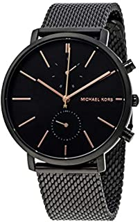 Michael Kors Men's Black Dial Stainless Steel Band Watch