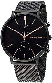Michael Kors Men's Black Dial Stainless Steel Band Watch
