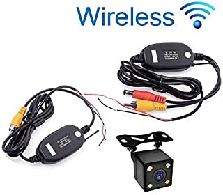Universal Wireless Car Rear View Camera with 4 LED Vehicle Backup Camera Reverse Camera RCA Night Vision Parking Assistance Camera IP67 Waterproof