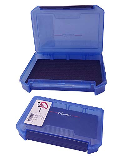 "Gamakatsu G3200SF G-Box, 3200 Slit Foam Case, Blue, Size 8.1"" x 5.7"" x 1.6"""