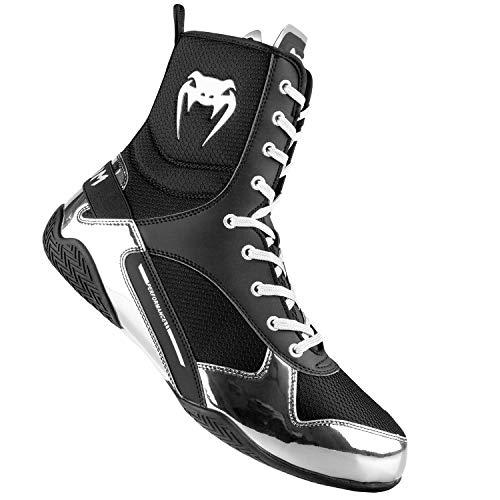 Venum Elite Boxing Shoes - Black/Silver - 38,5 (US 5,5)