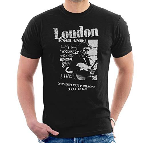 Bob Dylan Scraps Manga Corta De Los Hombres Camiseta Negro Medium