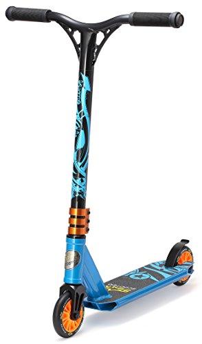 STAR SCOOTER Pro Sport Freestyle Stunt Scooter Kickscooter Roller Mini für Kinder ab 5 Jahre | 110mm Einsteiger/Fortgeschritten Stuntscooter Alu HIC Kompression | Blau