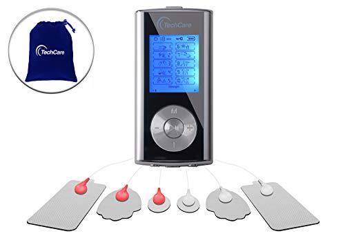 TechCare Mini Tens Unit Machine 10 Massage Modes Rechargeable Muscle...