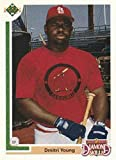1991 Upper Deck Final Edition Baseball #7F Dmitri Young RC Rookie Card St. Louis Cardinals Official MLB Trading Card From The UD Company. rookie card picture