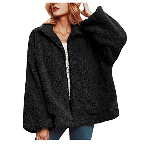 Great Deal! Hurrybuy Jackets for Women,Casual Fleece Fuzzy Faux Shearling Warm Winter Outwear Jacket...