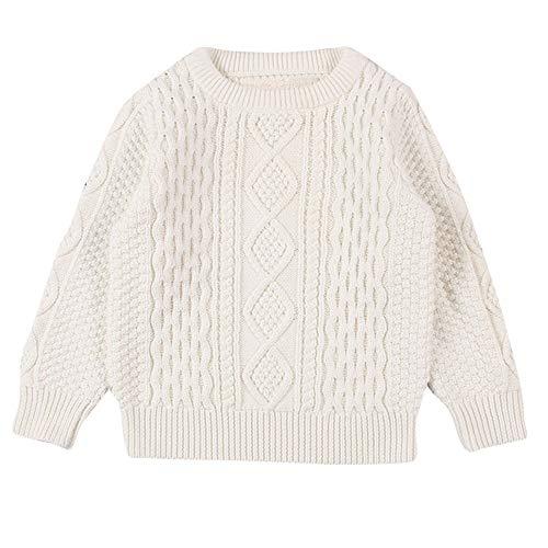 Kinder Strickpullover Jungen Mädchen Winter Yanhoo Kindermode Gestrickte Einfarbig Gemusterter Sweater Top Pulli Pullover Sweatshirt