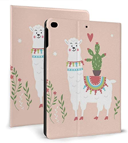 Llama Cactus Love PU Leather Smart Case Auto Sleep/Wake Feature for IPad Air 1/2 9.7' Case