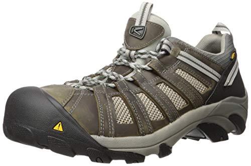 KEEN Utility Men's Flint Low Steel Toe Work Shoe, 10.5D, Gargoyle/Forest Night