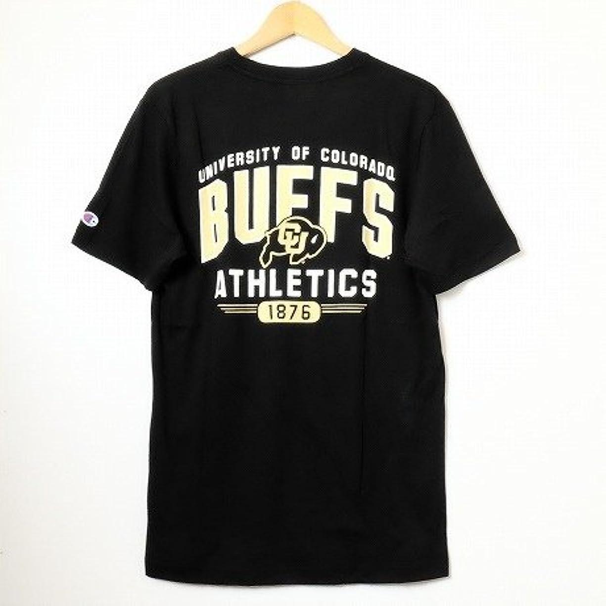 うそつき法廷警告するChampion USA 【チャンピオン】?NCAA?S/S-Tshirt カレッジプリント半袖Tシャツコロラド大学 ブラック
