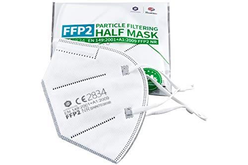 WBT Premium - FFP2 Maske mit Nasenpolster 10 Stück in 2er Packs CE Zertifiziert