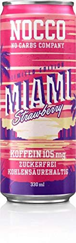 Nocco BCAA Drink, 24 x 330 ml Dosen (Pfandartikel) (Miami Strawberry)