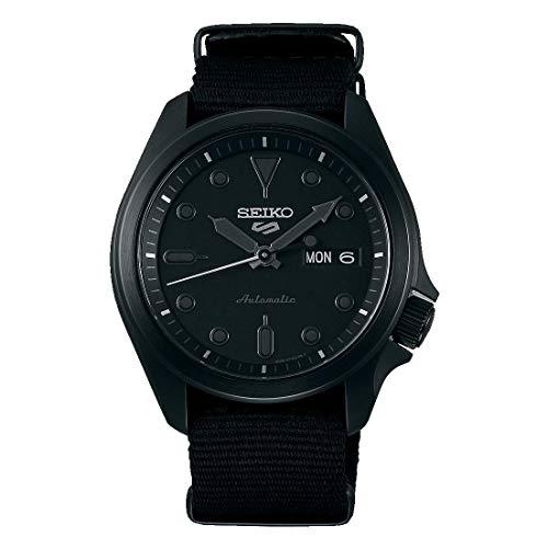 Seiko 5 Sports Herren-Armbanduhr Automatik mit Natoband Schwarz SRPE69K1