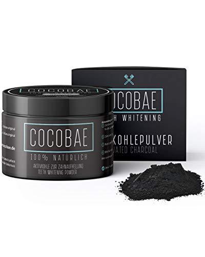 COCOBAE® Teeth Whitening - Aktivkohle Pulver Aus Kokosnuss Kohle Für Weiße Zähne – Kokos Zahnaufhellung - Aktivkohle Zähne - Aktivkohle Zahnaufhellung - Activated Charcoal Powder