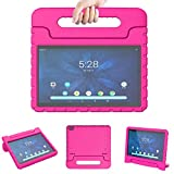 LTROP Case ONLY for Walmart ONA19TB003, NOT Universal, Shock Proof Convertible Handle Stand Kids Case for Onn Android Tablet Model ONA19TB003, NOT for Other Onn Tablet Models - Rose