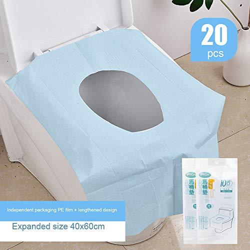 Extra groot toiletkussen voor eenmalig gebruik, draagbare toiletzitting voor volwassenen, individueel verpakte zindelijkheidstraining toiletbril, geschikt voor familie, zakenreis, reizen