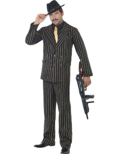 Gouden Pinstripe Gangster Fancy Jurk Kostuum