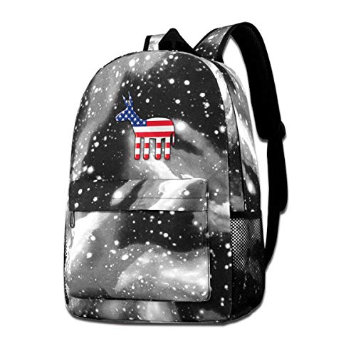 Lawenp USA Party Flag Galaxy Backpacks for School Travel Business Shopping Work Stylish Bags Casual Daypacks