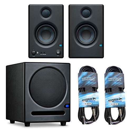 Presonus Eris 3.5 BT Aktive Multimedia Monitor-Boxen mit Bluetooth + Sub8 Subwoofer + 2X keepdrum Klinkenkabel