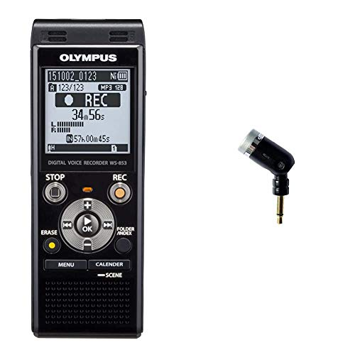 Olympus Voice Recorder WS-853 with 8GB, Voice Balancer, True Stereo...