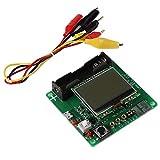 ARCELI MG328 LCD Transistor Inductor Capacitor Medidor ESR Multifunción Probador (Medidor...