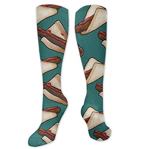 Aussie Bbq Snag In Green, calcetines grandes Comprion Sock 19.7 pulgadas/50 cm de largo medias para mujeres y hombres - Mejor Dring con atlético al aire libre