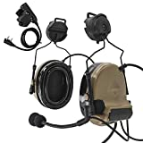 TAC-Sky Comtac II - Cascos antiruidos para Airsoft Ear Protección, Auriculares Militares Airsoft con Micrófono y PTT (Bronzer)