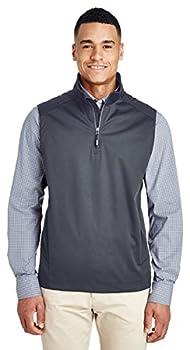 Ash City Core 365 Men s Techno Lite Three-Layer Knit Tech-Shell Quarter-Zip Vest Carbon 456 XXXX-Large