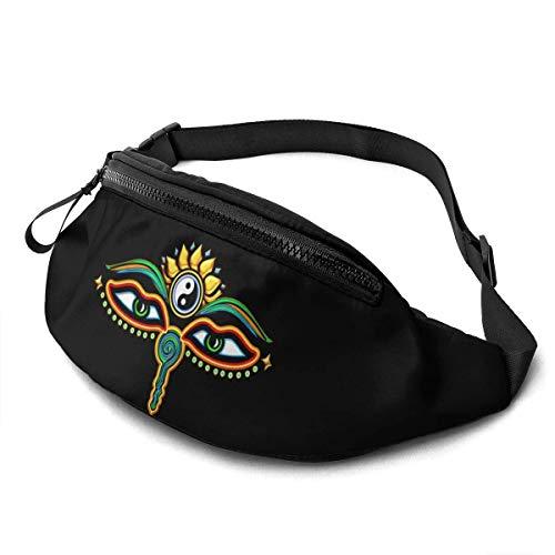 AOOEDM Gürteltasche für Männer Frauen, Buddha-Augen, Symbol Weisheit & Erleuchtung, lässige Outdoor-Taillentasche für Workout-Reisen Wandern