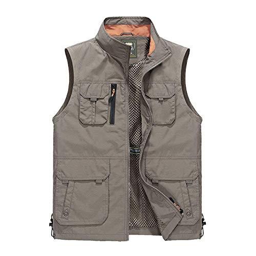 Lato męska kamizelka na co dzień rybołówstwo, fotografia, płaszczyk outdoorowy, moda męska, rewers, bez rękawów, odzież wierzchnia, kurtka, żółty, 3XL