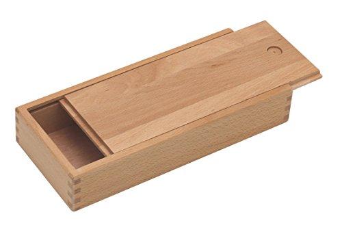 Paintersisters Stiftebox mit Schiebe-Deckel - Holzbox, Holzschachtel aus fein lasiertem Buchenholz