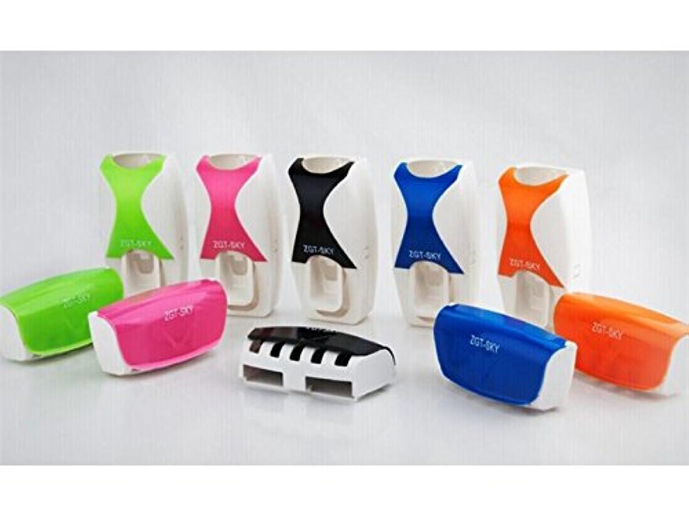 感謝する低いベストOside クリエイティブバスルーム自動歯磨き粉ディスペンサー+歯ブラシホルダーウォッシュセット(ランダムカラー)