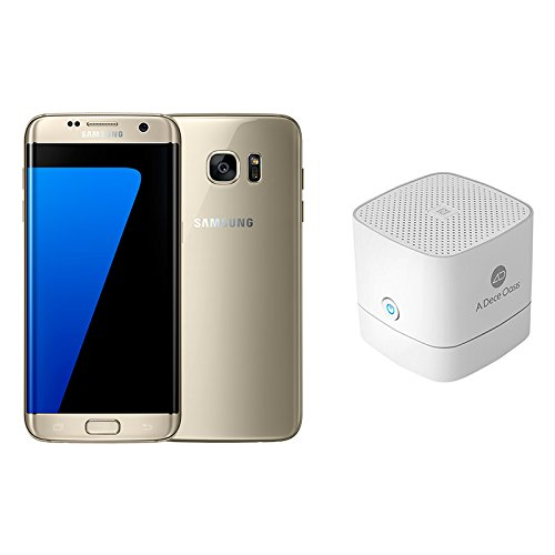 Samsung Galaxy S7Edge Smartphone entsperrt 4G 14cm (5,5Zoll), 32GB, Nano-SIM, Android, goldfarben + NFC-Bluetooth-Lautsprecher