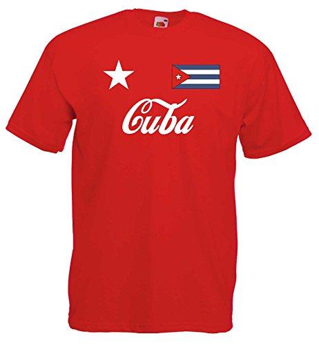 world-of-shirt Herren T-Shirt Cuba Libre / Kuba im Trikot Look