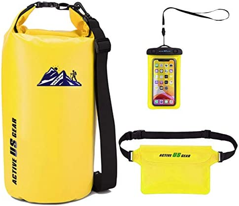 Floating Waterproof Dry Bag with Touch Friendly Phone Case and Waist Pouch Backpack 5L 10L 20L product image