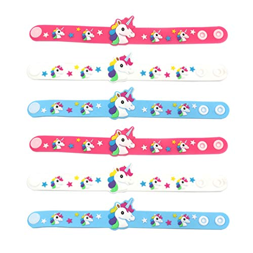 STOBOK Unicorn Slap Bracelets for Kids Wristbands Slap Bands Girls Unicorn Theme Birthday Party Favors,12 Pieces