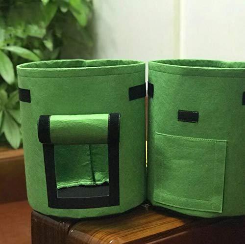 XiaoOu 35 * 40 cm 10 Plantes Sacs de Culture Plants graines de Pommes de Terre Tissu Pot de Fleur Plantation semis semis Jardinage Jardin pour Outils de Jardin, Vert 35x40 10gal
