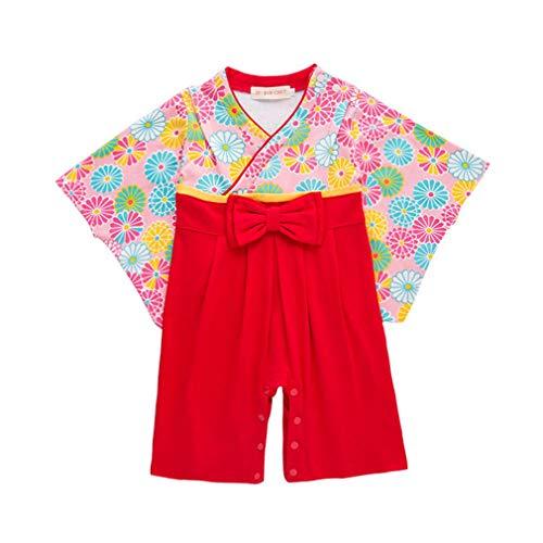 Baby Toddler Girls Overol Sakura Kimono Robe Rompers Mono Traje