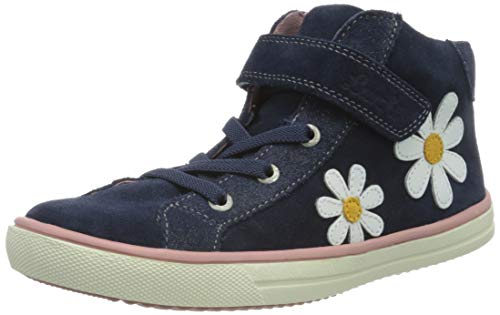 Lurchi Mädchen SIBBI Hohe Sneaker, Blau (Navy 32), 27 EU